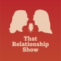 That Relationship Show logo, red square with two abstract figures facing each other